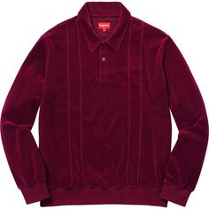 Velour L/S Polo by supreme NY