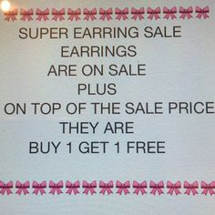 """In Memory of Cheaper Shipping - TEMP. EARRING SALE """"In Memory"""" of the $4.99 Shipping Fee, that we will all Grieve, I am running an amazing """"temporary"""" sale!! Get the deal while it lasts!! Not only are the earrings marked down, you get B1G1 on top of the sale price!!! Higher price prevails!! Jewelry Earrings"""