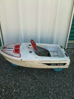 Vintage Murray Jolly Roger Boat Pedal Car