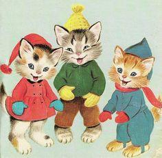 Three Little Kittens found their mittens.