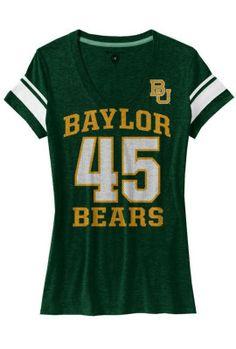 Baylor: Product: Baylor University 45 Bears Women's Gym V-Neck T-Shirt
