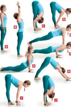 Sun Salutation Yoga sequence. Perfect for a quick yoga-relaxation exercise :)
