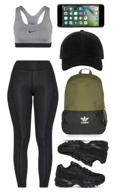 Designer Clothes, Shoes & Bags for Women Cute Workout Outfits, Cute Lazy Outfits, Workout Attire, Cute Swag Outfits, Womens Workout Outfits, Cheer Outfits, Sporty Outfits, Nike Outfits, Sporty Style
