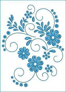 Border Embroidery Designs, Basic Embroidery Stitches, Embroidery Flowers Pattern, Machine Embroidery Patterns, Hand Embroidery Patterns, Embroidery Applique, Broderie Simple, Motifs Perler, Quilling Patterns