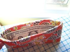 Tutorial for Fabric Envelopes for the Dave Ramsey Envelope System Wallet