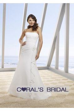 Lace up back chiffon beach wedding dress