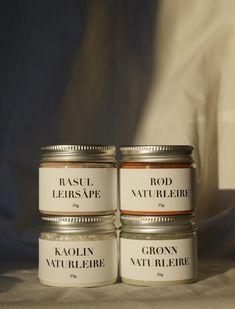 Minis - Rasul Leirsåpe, Rød Naturleire, Grønn Naturleire, Kaolin Naturleire Minis, Desserts, Food, Cold, Tailgate Desserts, Deserts, Essen, Postres, Dessert