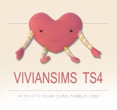 Heart pillows at v-vian-sims via Sims 4 Updates