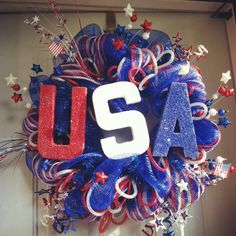 First fourth of July wreath I made :)