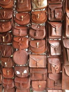 All hand made and embossed, these leather bags from Chiapas are amazing.