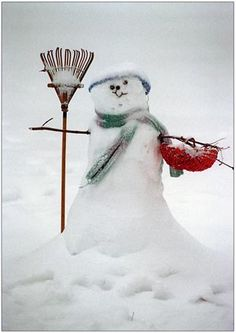 """Every child, from 1 to should """"Build a Snowman"""" every winter & a sand castle each summer I Love Snow, I Love Winter, Winter Fun, Christmas Snowman, Winter Christmas, Winter Schnee, Snow Sculptures, Snow Art, Winter Magic"""