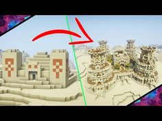 Minecraft Desert Temple Extreme Transformation! | Tutorial & Walkthrough - YouTube