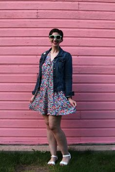 The perks of dressing like a wallflower, wearing a floral romper.