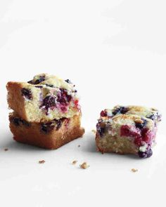 Coconut and buttermilk make this snack cake moist and tender. Use any combination of fresh or frozen berries you like, such as blueberries, raspberries, blackberries, and strawberries.