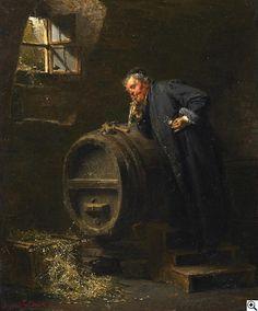Eduard von Grützner - Die Weinprobe