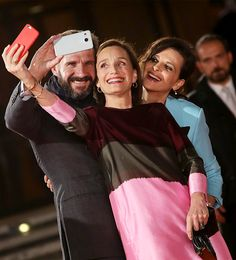 Ralph Fiennes, Kristin Scott Thomas and Juliette Binoche walk the red carpet for the 20th anniversary screening of 'The English Patient' during the Rome Film Festival on October 22, 2016 in Rome, Italy.