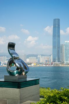 The view of Hong Kong's Victoria Harbour from one of the outdoor pools at Four Seasons Hong Kong.