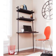 With a broad workspace and two generous shelves the Haeloen Wall Mount Desk is the answer for apartments or cozy homes looking to add utility and a touch of pizzazz.