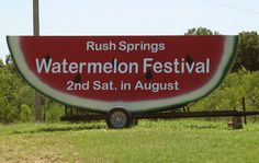 Watermelon Festival, Rush Springs Oklahoma.  You should GO! ...but watch your speed! (My Home Sweet Hometown)