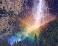 Rainbow by Bridalveil Falls, Yosemite National Park - by ThorsHammer94539 on Flickr