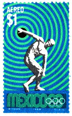 1968 olympic stamp