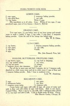 Retro Recipes, Old Recipes, Cookbook Recipes, Vintage Recipes, Baking Recipes, Family Recipes, Cupcake Recipes, Cupcake Cakes, Cake