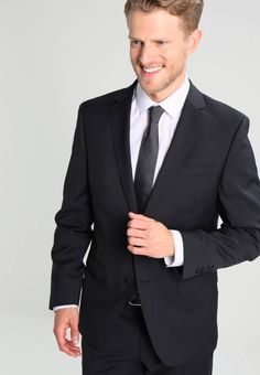 """Care instructions:Dry clean only. Sleeve """" (Size Back """" (Size jacket """" (Size outer leg lengt. Business Men, Men's Wardrobe, Suit And Tie, Fabric Material, Bugatti, Mens Suits, Suit Jacket, Slim, Legs"""
