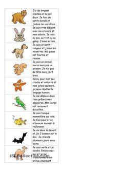 Dominos sur les animaux (avec texte)