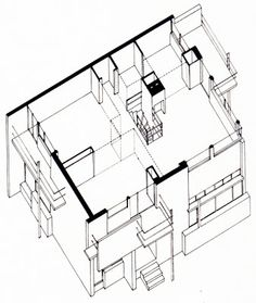 Schroder House Drawing