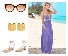 chic and beach by cristina-ri on Polyvore featuring polyvore, Venus, Stuart Weitzman, Katharine Walker, Prada, fashion, style and clothing