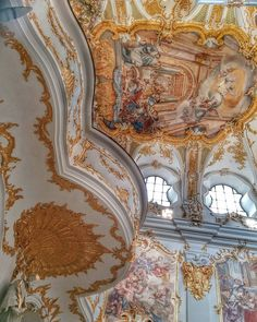 Some of the baroque churches we've seen in Bavaria are jaw-droppingly sumptuous.  #baroque #churches #Germany #regensburg #bavaria