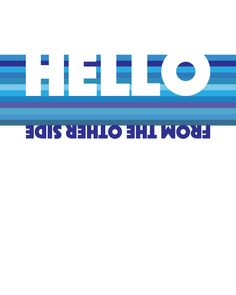 HELLO BY ADELE. Original custom designed artwork of treasured hit songs from your favorite artist & music era. Playfully colorful illustrations create a special and affordable piece for you to cherish
