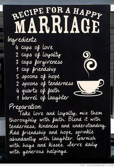 Recipe For Happy Marriage, Happy Marriage Quotes, Marriage Prayer, Godly Marriage, Marriage Relationship, Marriage Advice, Love And Marriage, Relationships, Strong Marriage