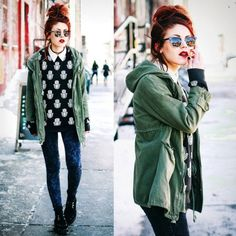 2a66debe502 Stylish casual punk chic look