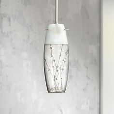 Give a fresh look to your home with this delightful mini pendant in etched and elegant art glass.
