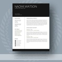 modern resume template by resumefoundry on creativemarket professional printable resume cv cover letter template examples creative design and great - Creative Design Resume Templates