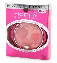 Physicians Formula Happy Booster Glow & Mood Boosting Blush in Warm. First impression: a little sheer, had to add more to my blush brush, the colors blended together nicely on my cheeks to create a warm pink color.