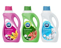 Detergent - redesign of packaging Ad Design, Label Design, Logo Design, Package Design, Dishwasher Detergent, Laundry Detergent, Plastic Bottle Design, Detergent Bottles, Products