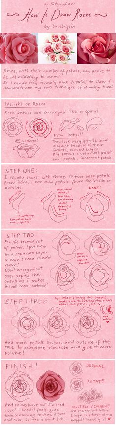 Tutorial: How To Draw Roses by *lacelazier on deviantART