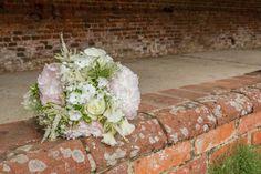 Blush pink gardenia peony bouquet