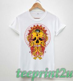 5180fc7b2 eye skull colourful cross hipster tumblr mens/Unisex 100% cotton printed  tshirt tops tee