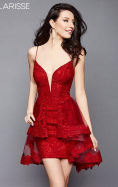 63a79310ecb Clarisse 3366 Dress - MissesDressy.com. Red Homecoming DressesV Neck ...