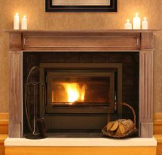 Pearl Mantels Alamo Wood Fireplace Mantel Surround - Fireplace Surrounds at Hayneedle Fireplace Mantel Surrounds, Wood Fireplace Mantel, Fireplace Shelves, Wood Mantels, Mantel Shelf, Open Fireplace, Fireplace Inserts, Electric Fireplace, Fireplace Ideas