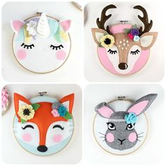 This pretty trio of woodland animal hoop art cant help but make you smile. They are all stitched by hand and the perfect sewing patterns for beginner/intermediate sewers. I will show you how in my step by step photo pattern E-Books. FLASH SALE! - 40% off ALL Maisie Moo Sewing Patterns. Discount applied to price shown. Be quick ends soon! This listing is for three digital-download PDF-PATTERN. It is not for the finished hoop art. All measurements are in both metric and imperial (cms an...