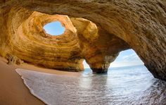 The Wondrous Benagil Beach Sea Cave of Portugal - via Infinite Legroom 07.05.2015 | The Algarve coast in south Portugal is a travel destination for the gods. Warm sun serenades a network of beaches, adorable towns, restaurants, bars, shops and a brilliant local culture. But the most notable spot in this entirely notable area is the Benagil Sea Cave.