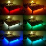 This product features a full package that allows you to stick the 16ft long light strip to anywhere of your choice and remotely control the color and flash mode of the light emitted by its 300 RGB (Re