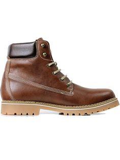 Vegan mens dock boots in chestnut by Wills London