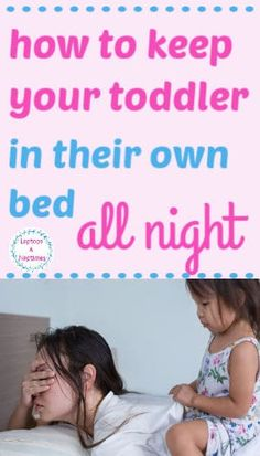 What IS it with little kids getting out of bed? It's like they KNOW you're exhausted and not ready to handle it well right now – so be prepared. Read this post full of handy tips for getting little kids to sleep in thei own beds all night long. Toddler Sleep, Kids Sleep, Baby Sleep, Child Sleep, New Parent Advice, Parenting Advice, Single Parenting, Bedtime Routine Chart, Getting Out Of Bed
