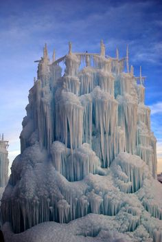 ice sculptured splendidly