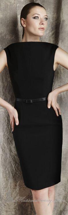 Elegant cocktail dress by Theia #black